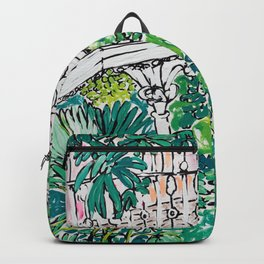 Kew Gardens Jungle Botanical Painting Greenhouse Backpack