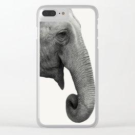 Elephant Animal Photography Clear iPhone Case