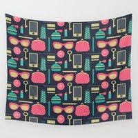tote bag Wall Tapestries featuring My Bag by Maja Bencic