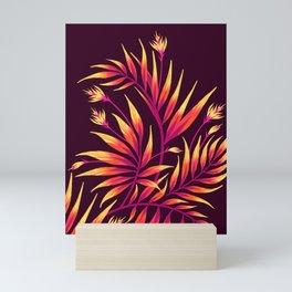 Waikiki Palm - Orange Mini Art Print