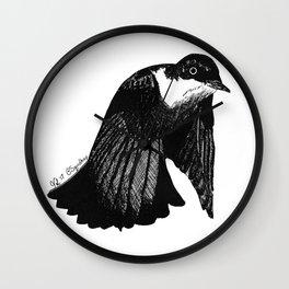 Down Flap Bird Wall Clock