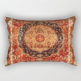 Seley 16th Century Antique Persian Carpet Print Rectangular Pillow