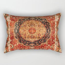 Seley 16th Century Antique Persian Carpet Print Rectangular Pillow