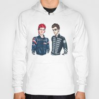 my chemical romance Hoodies featuring My Chemical Pilots by poweredbycokezero