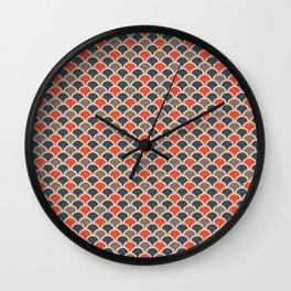 Retro Golden Cirlcles Pattern Wall Clock