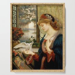 Marie Spartali Stillman - Love's Messenger Serving Tray