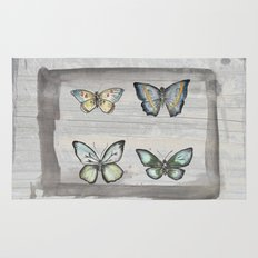 Butterfly study Rug