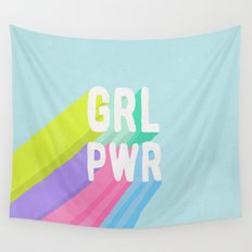 GRL PWR x Blue Wall Tapestry