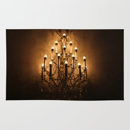 Gold Wall Chandelier Rug