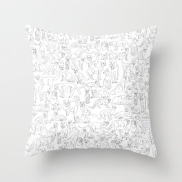 All Cats Throw Pillow