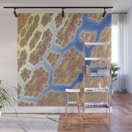 Fractal Lava Flows Wall Mural