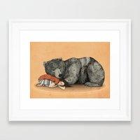shipping Framed Art Prints featuring Huntress by Sandra Dieckmann