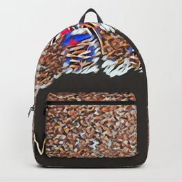 Miss You - Colorful Mosaic Backpack
