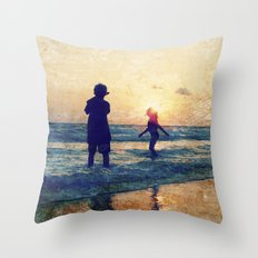 Beauty in the Blues Throw Pillow
