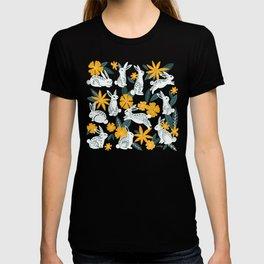 Bunnies & Blooms - Ochre & Teal Palette T-shirt