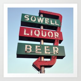 Sowell Beer and Liquor (Square) Art Print