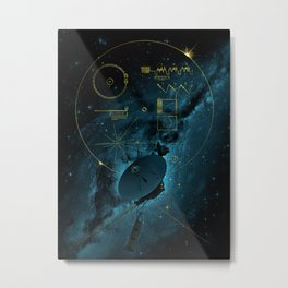 Voyager and the Golden Record - Space | Science | Sagan Metal Print