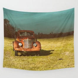 Lost In Time Truck Travel Wall Tapestry