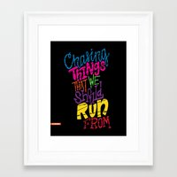chvrches Framed Art Prints featuring Chasing by Chelsea Herrick