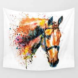 Colorful Horse Head Wall Tapestry