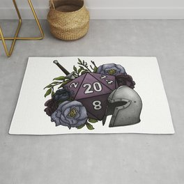Fighter Class D20 - Tabletop Gaming Dice Rug