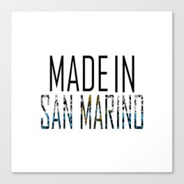 Made In San Marino Canvas Print