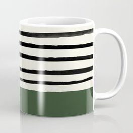 Forest Green x Stripes Coffee Mug
