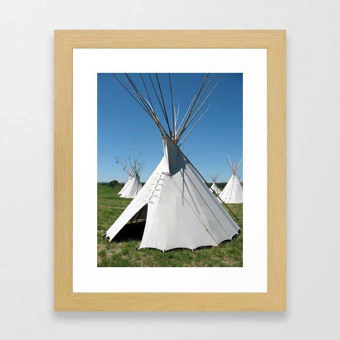 Teepee Village Framed Art Print