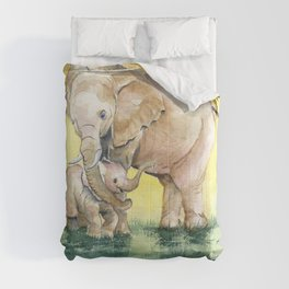 Colorful Mother's Love - Elephant Comforters
