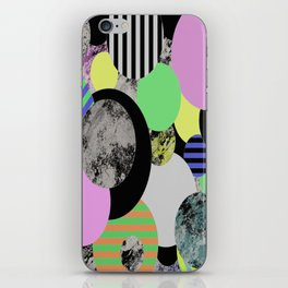 Cluttered Circles - Abstract, Geometric, Pop Art Style iPhone Skin