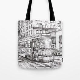 Spadina King (black and white) Tote Bag