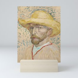 Self Portrait with Straw Hat by Vincent van Gogh, 1887 Mini Art Print