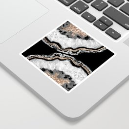 Yin Yang Agate Glitter Glam #8 #gem #decor #art #society6 Sticker