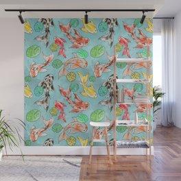 Koi pond Wall Mural