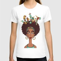 afro T-shirts featuring Afro Birds by Beatrice Roberti