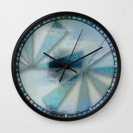 Triangles on Blue Grey Backdrop Wall Clock