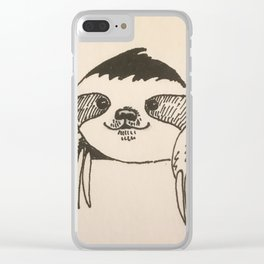 Sal the Sloth Clear iPhone Case