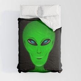 Green Alien Head Comforters
