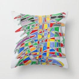Alienopoly Throw Pillow