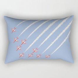 Red Arrows Kuwait Sky Rectangular Pillow