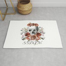 SSDGM skull and flowers Rug
