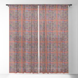 Kuna Mola Pattern Sheer Curtain