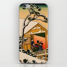 Snow at Koishikawa - Vintage Japanese Art iPhone Skin