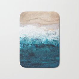 Watercolour Summer beach III Bath Mat