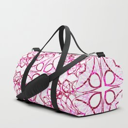Pink Boho Chic Pattern Duffle Bag