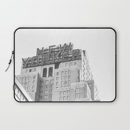 New Yorker Sign - NYC Black and White Laptop Sleeve