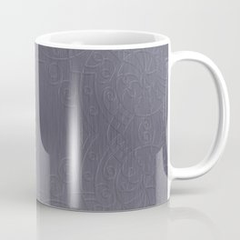 Cool Brushed Metal with a Stamped Design Coffee Mug