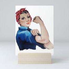 Rosie The Riveter Feminist Feminism Mini Art Print