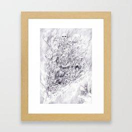 Smoke Sword Framed Art Print