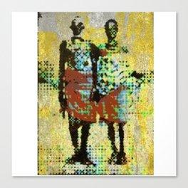 Aged couple Canvas Print